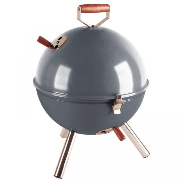 Grill okrągły Contento Mini BBQ szary CO-672061
