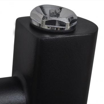 Grzejnik łazienkowy, prosty 500 x 1732 mm, czarny