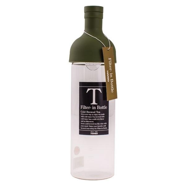 Hario butelka z filtrem Cold Brew Tea - oliwkowa zieleń CD-FIB-75-0G