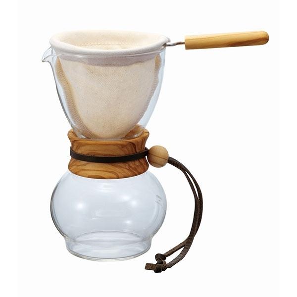 Hario Drip Pot Olive Wood - 240ml CD-DPW-1-OV