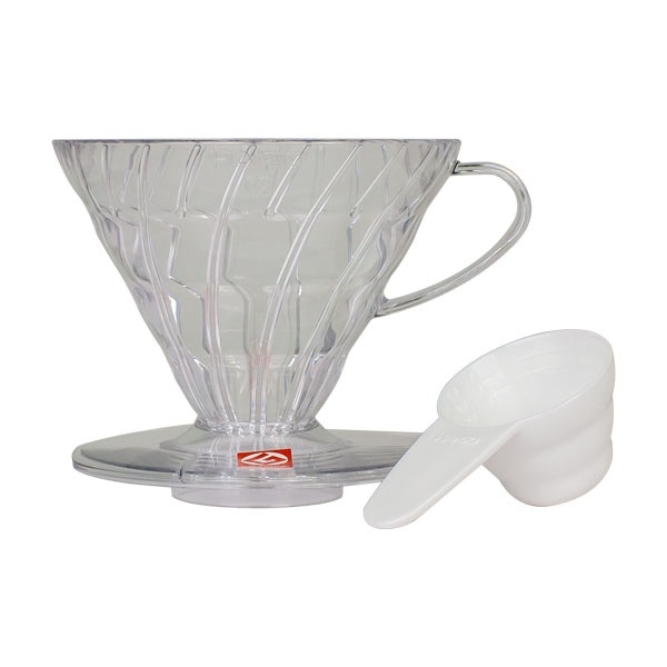 Hario plastikowy Drip V60-02 clear CD-VD-02T