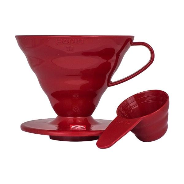 Hario plastikowy Drip V60-02 czerwony CD-VD-02R