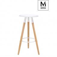 Hoker Dipp Modesto Design biały-podstawa bukowa