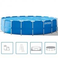INTEX Basen ogrodowy okrągły z metalową ramą 549x122cm 24311L