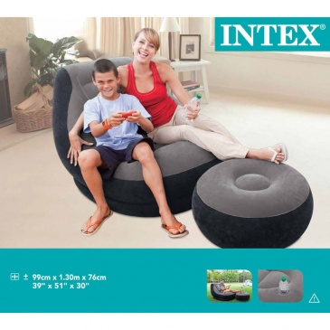 Intex Fotel Dmuchany Z Pufem Ultra Lounge Relax 68564np