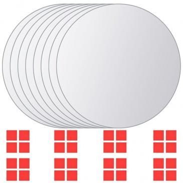 Kafelki Lustrzane 8 Szt Okrągłe
