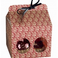 Kaiser - Opakowanie prezentowe na 4 muffinki Flora