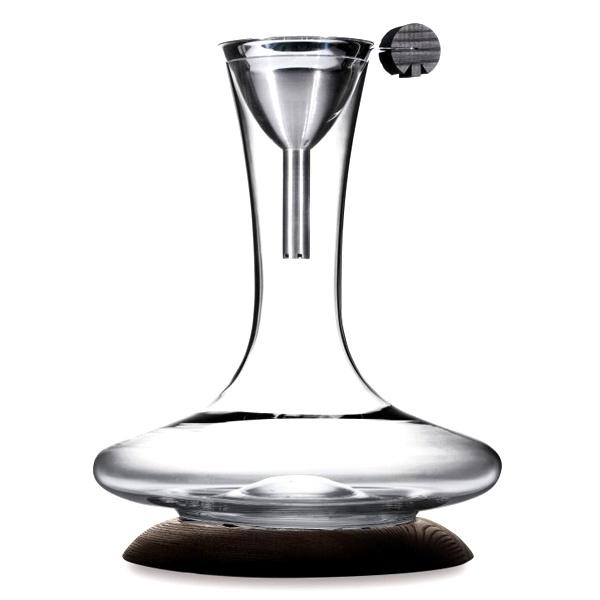 Karafka do wina z lejkiem i podstawką Legnoart Crook SD-2