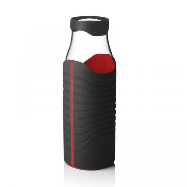 Karafka na wodę w pokrowcu Menu Water&Wine czarno-czerwona 4667569