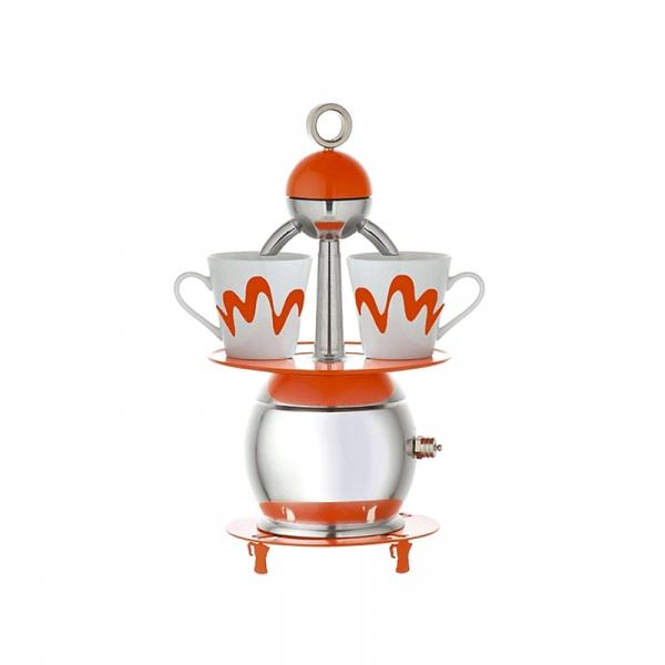 Kawiarka 2 Top Moka + 2 filiżanki Papalina pomarańczowa TM-0011O