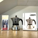 kawiarka moka induction anthracite bialetti opakowanie i kawa