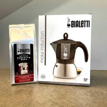 kawiarka moka induction z kawą