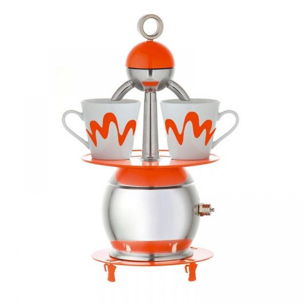Kawiarka z dwoma kubeczkami Top Moka Papalina czerwona TM-0011R
