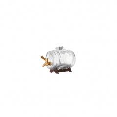KIL - Dystrybutor-beczułka na alkohol 1 l, mosiądz