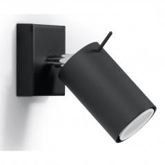 Kinkiet 10x8x15cm Sollux Lighting Ring czarny