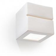 Kinkiet 15x15x15cm Sollux Lighting Leo line biały