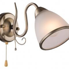 Kinkiet 19x11cm Lampex Goja biało-złoty