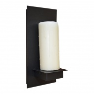 Kinkiet 32x15cm King Home Candle biało-czarny