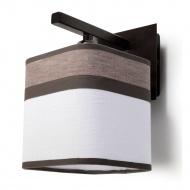Kinkiet Latte 14x20cm Sollux Lighting biało-brązowy
