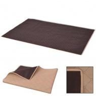 Koc piknikowy beżowy i brązowy, 100x150 cm