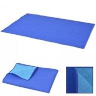 Koc piknikowy niebieski i jasnoniebieski 100x150 cm