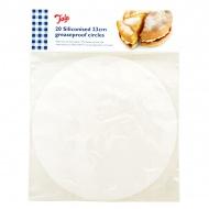 Kółka papierowe do pieczenia silikonowane 20 szt. Tala