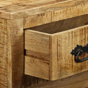 Komoda z 3 szufladami, surowe drewno mango