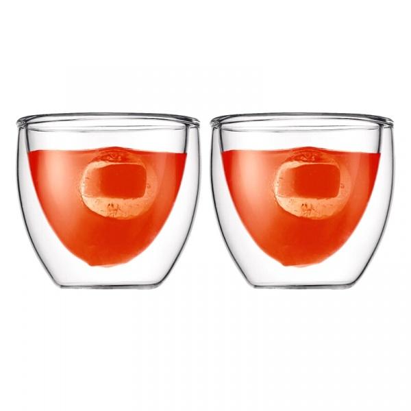 Komplet 2 szt. szklanek izolowanych 0,08 l Bodum Pavina BD-4557-10