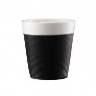 Komplet kubków porcelanowych 0,17l Bodum Bistro czarny