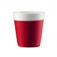 Komplet kubków porcelanowych 0,17l Bodum Bistro czerwony