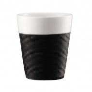 Komplet kubków porcelanowych 0,3l Bodum Bistro czarny