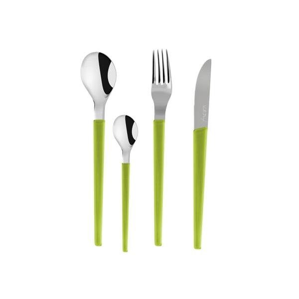 Komplet sztućców 24 szt. Vialli Design Senso zielony 5905933232120