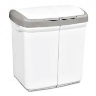Kosz do segregacji odpadów Meliconi Ecobin 2x25L biały