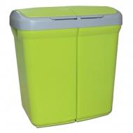 Kosz do segregacji odpadów Meliconi Ecobin 2x25L zielony