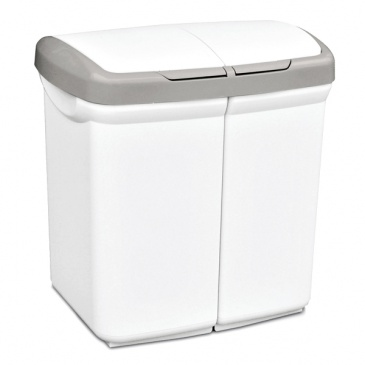 Kosz do segregacji odpadów Meliconi Ecobin biały
