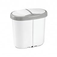 Kosz do segregacji odpadów Meliconi Multispace Duo 2x12,5L biały