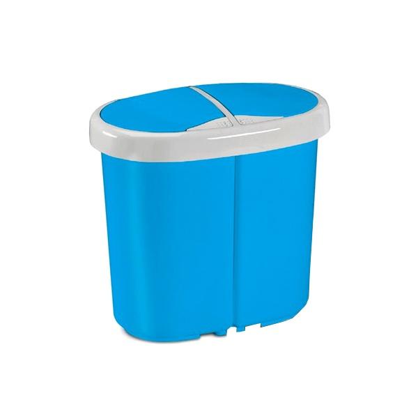 Kosz do segregacji odpadów Meliconi Multispace Duo 2x12,5L niebieski 14106029153BH