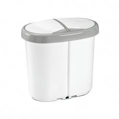 Kosz kuchenny do segregacji 2x12,5L Meliconi Multispace Duo biały