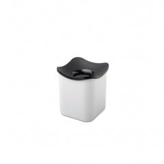 Kosz kuchenny na odpadki 1L Cube nordic biały