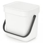 Kosz kuchenny na odpadki 3l Sort & Go biały