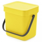 Kosz kuchenny na odpadki 3l Sort & Go żółty 209840