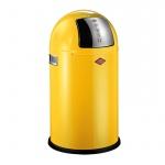 Kosz kuchenny na śmieci 22L Wesco PushBoy żółty