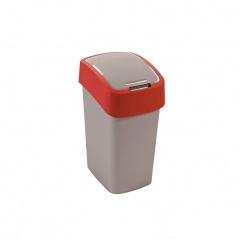 Kosz na śmieci 10 l (srebrno-czerwony) Flip Bin Curver