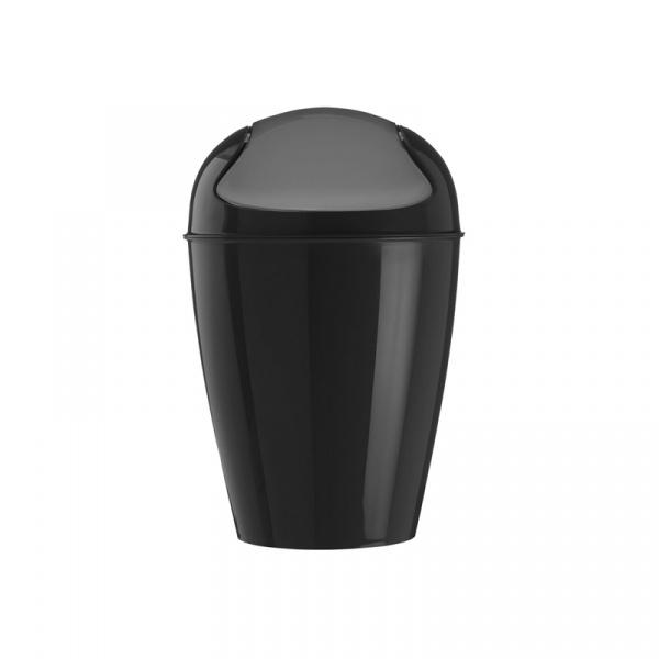 Kosz na śmieci Del S Koziol czarny KZ-5777526