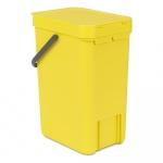 Kosz na śmieci kuchenny 16l Brabantia Sort&Go żółty