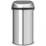 Kosz na śmieci kuchenny 60l Brabantia Touch Bin srebrny