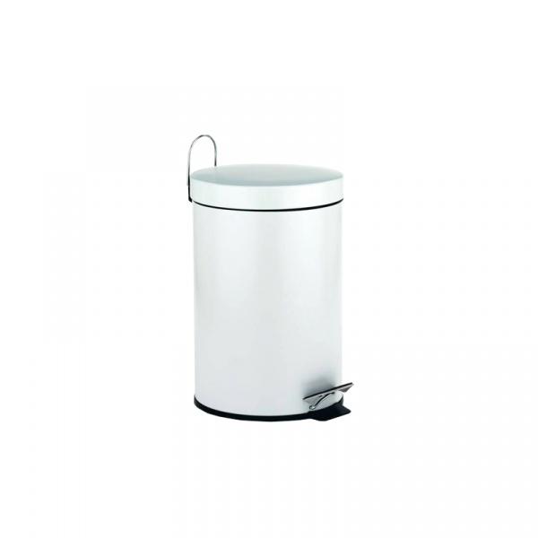 Kosz na śmieci łazienkowy Kela Rika biały KE-20878