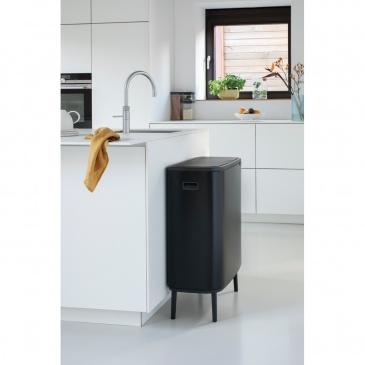 Kosz na śmieci kuchenny Touch Bin Bo 60l czarny mat 130229
