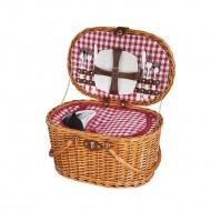 kosz piknikowy dla 2 osób, 45 x 31 x 25 cm, jasny brąz