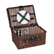Kosz piknikowy dla 2 osób Cilio Bellagio brązowy